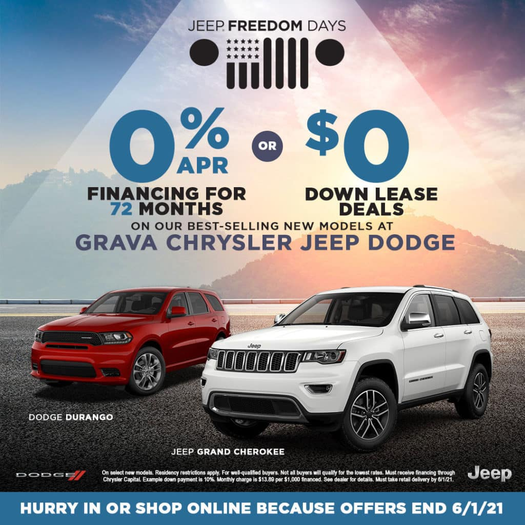 Select New Chrysler Dodge Jeep & Ram Models