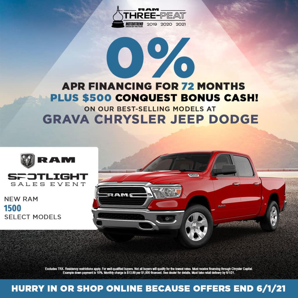 Select New Ram 1500 Models