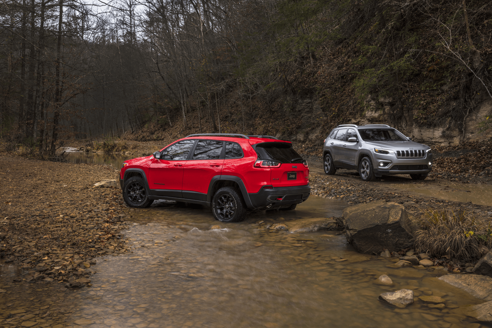 2021 Jeep Cherokee Silver Red Stream