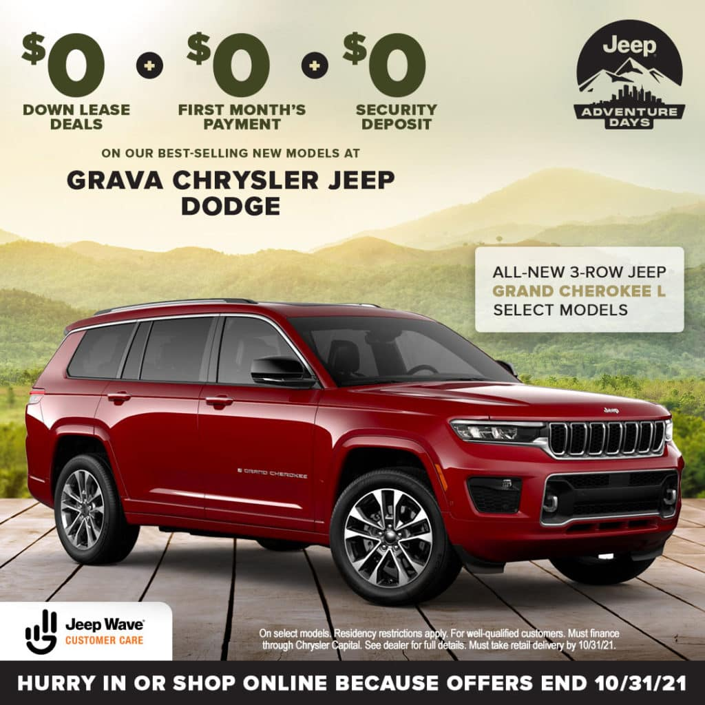 All-New 3-Row Jeep Grand Cherokee L Select Models