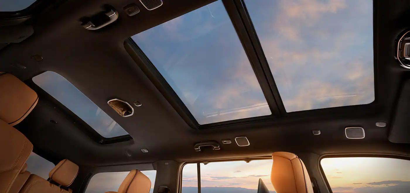 2022 Jeep Wagoneer sunroof from interior