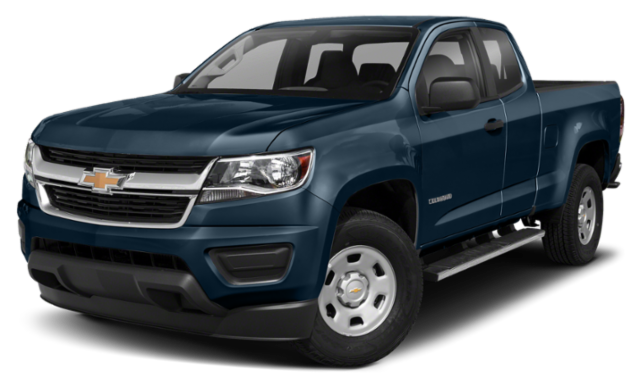 Blue Chevy Colorado Truck