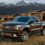 2020 chevrolet silverado 1500 black exterior parked outside