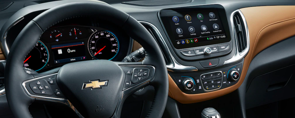 2020 chevy equinox interior dashboard close up