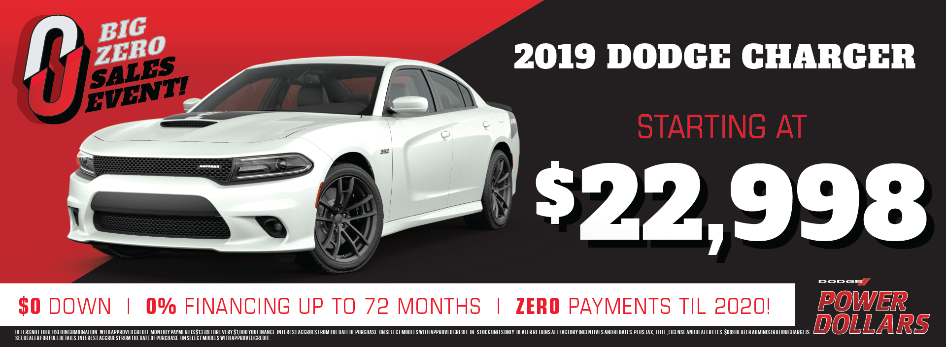 2019 Dodge Charger discount!