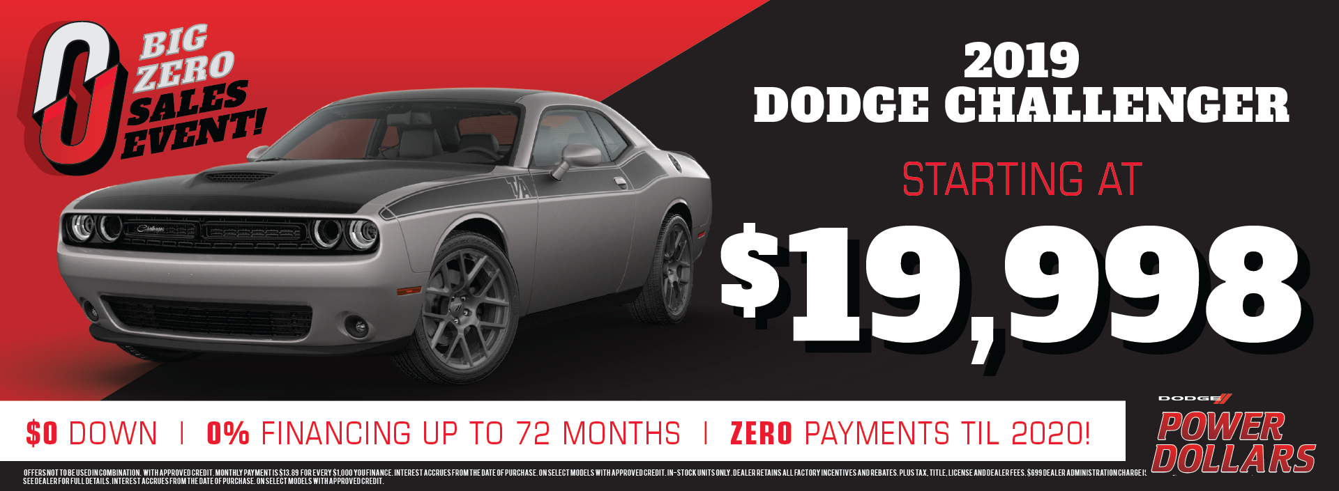 2019 Dodge Challenger offer and discount!