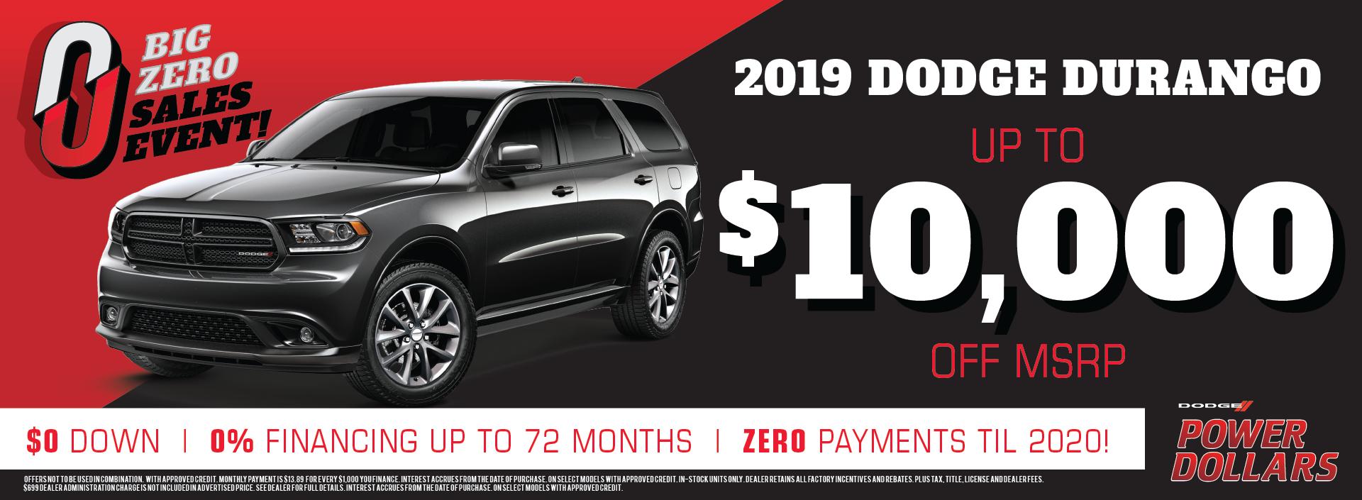 2019 Dodge Durango Sale!