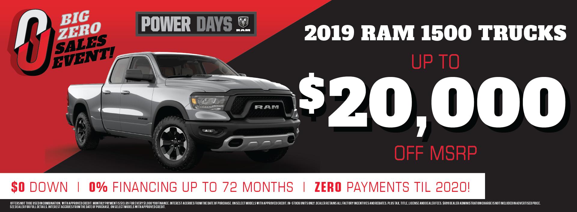 2019 RAM 1500 offer!