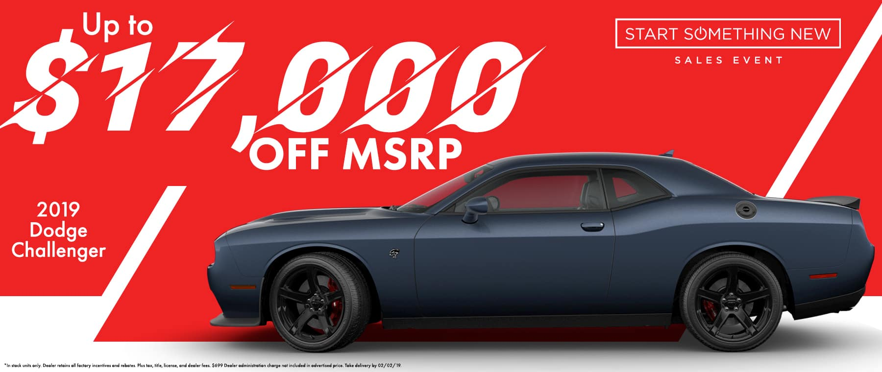 2019 Dodge Challenger up to $17000 off!