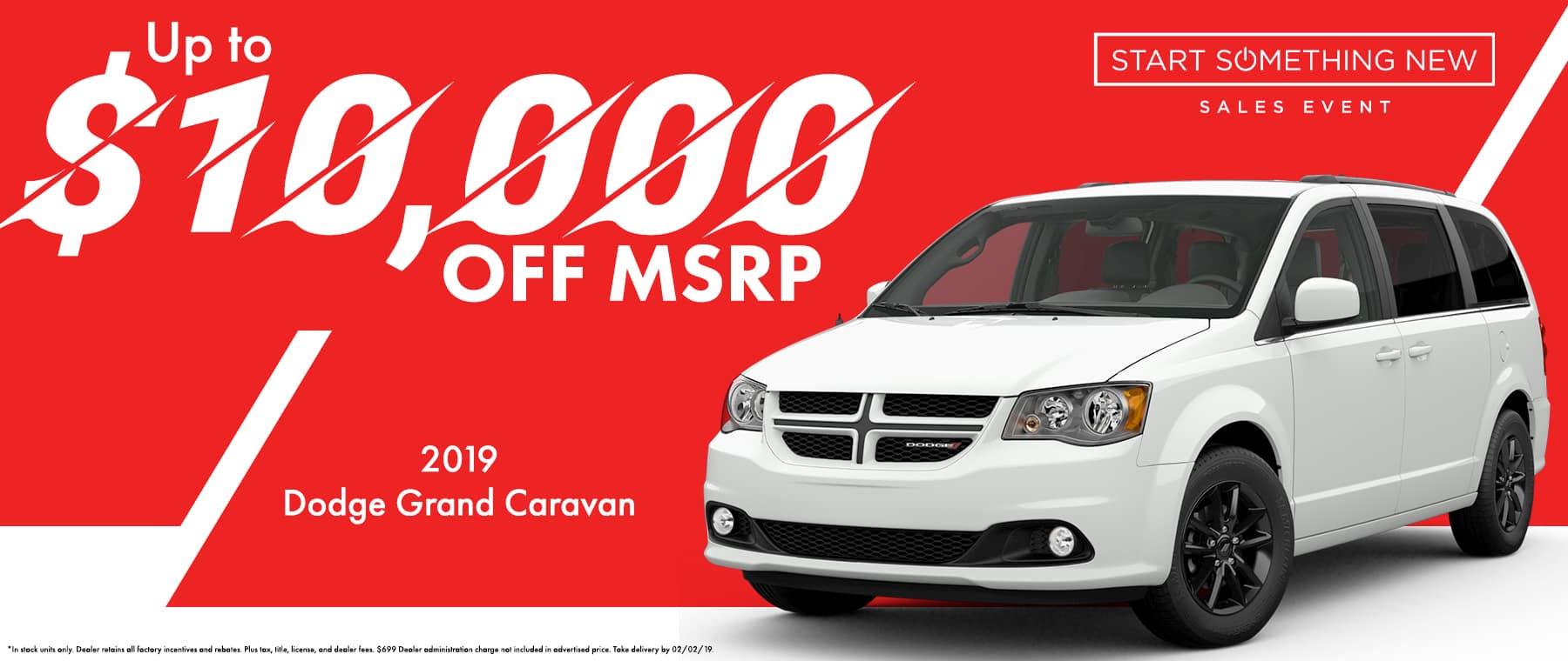 2019 Dodge Grand Caravan Deal