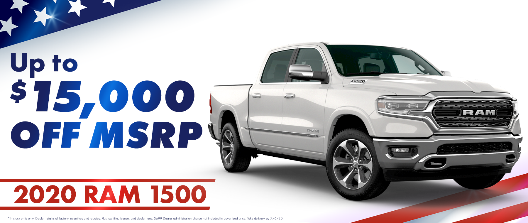 2020 Ram 1500 up to $15,000 off MSRP