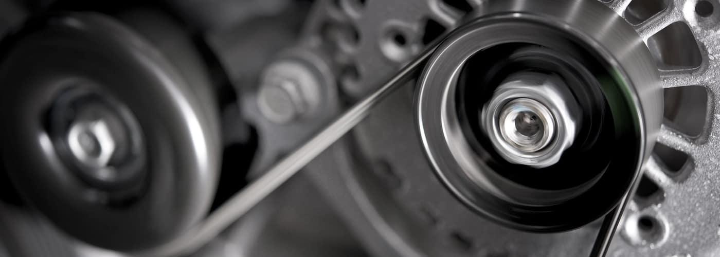 car alternator close up
