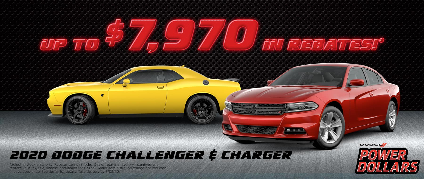 2020 Challenger/Charger up to $7,970 off MSRP