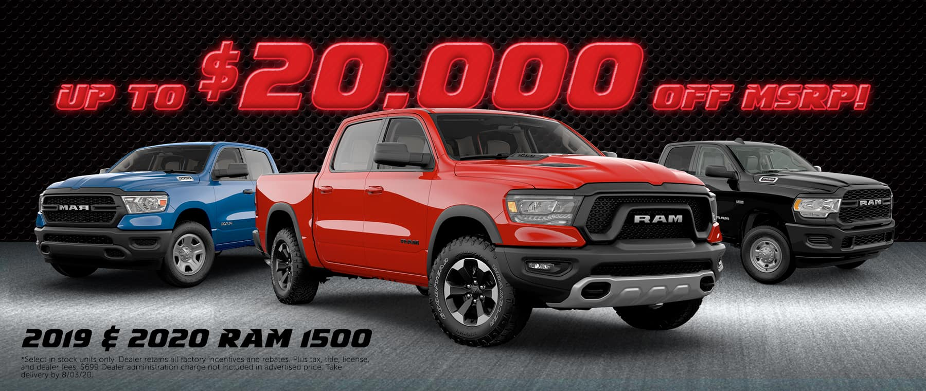 2020 Ram 1500 up to $20,000 off MSRP