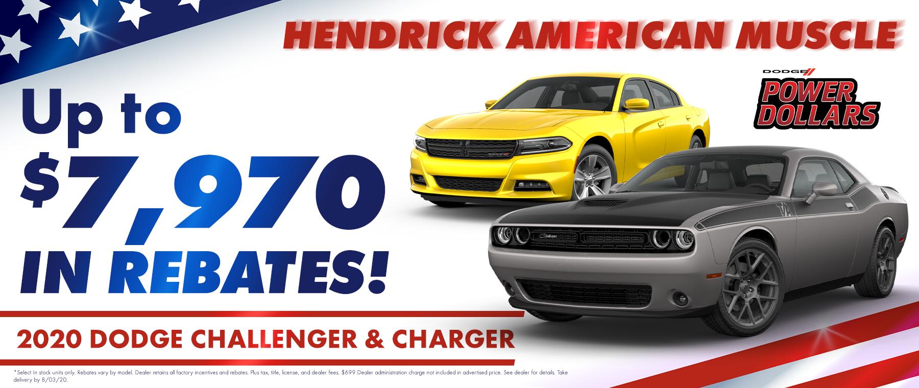 challenger charger huge rebates