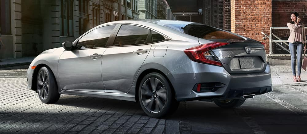 New silver Honda Civic