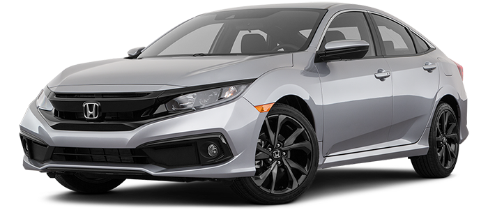 New 2019 Honda Civic front facing