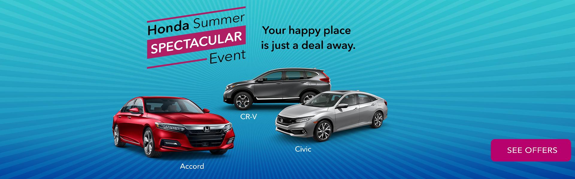 Honda Summer Spectacular Sales Event ending September 3rd