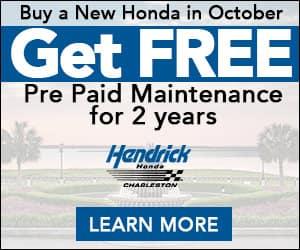 Free Pre-Paid Maintenance in October   Hendrick Honda of Charleston