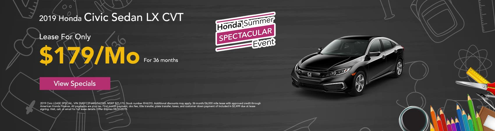 AUGUST CIVIC SPECIAL