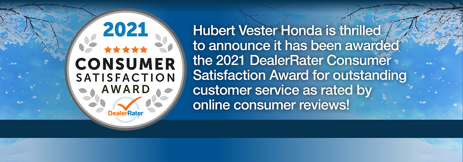 HVH-170 Consumer Satisfaction Award Slide 1600×560