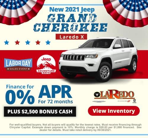 New 2021 Grand Cherokee Laredo X