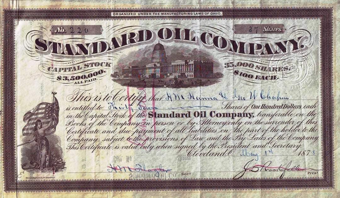Standard Oil Company Credentials