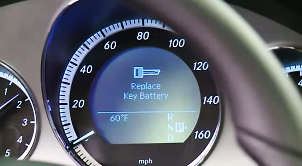 Mercedes-Benz replace key fob battery dashboard warning