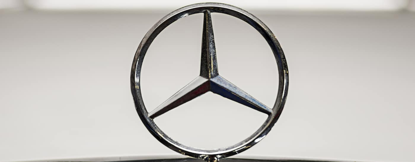 Mercedes-Benz logo on car