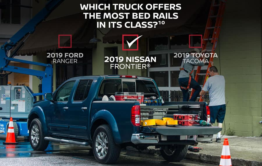 Which truck offers the most bed rails in its class?