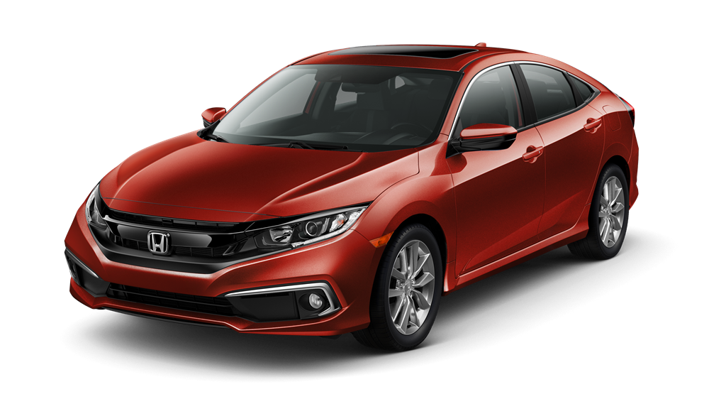 2019 Honda Civic EX Red