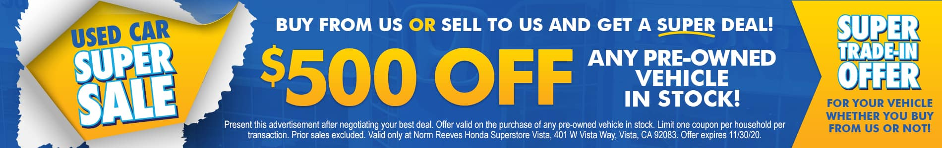 Used Specials Banner