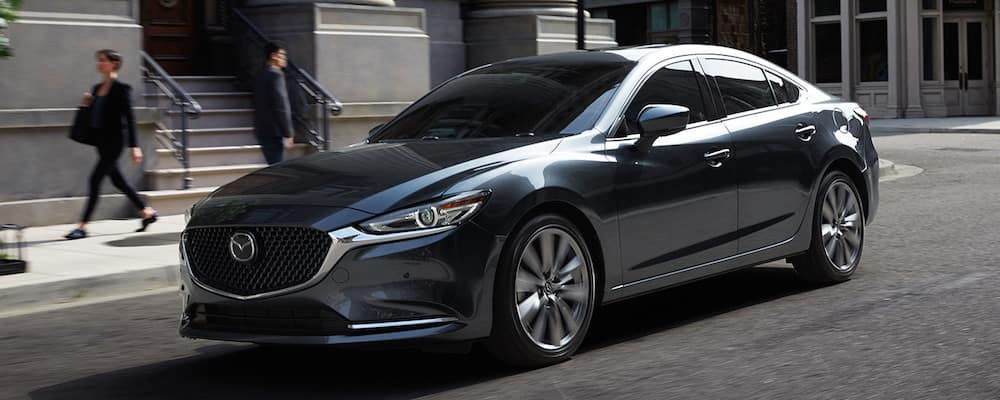 Silver 2020 Mazda6 on City Street