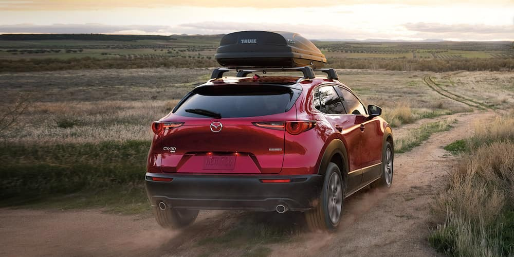 Red 2020 Mazda CX-30 with Roof Rack