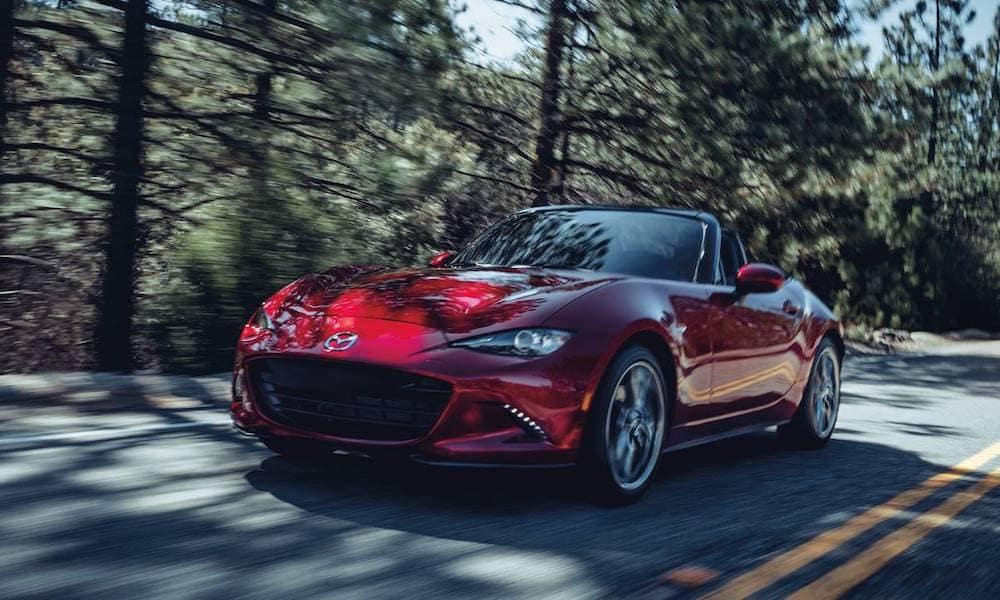 2020 Mazda Miata on Highway