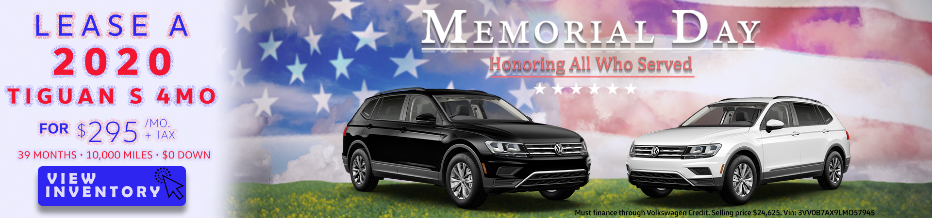 two cars on American flag background