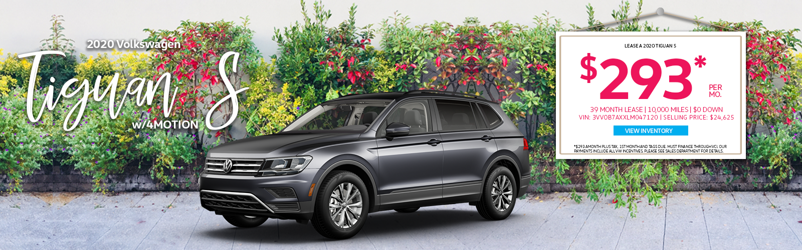 Tiguan S with flower background