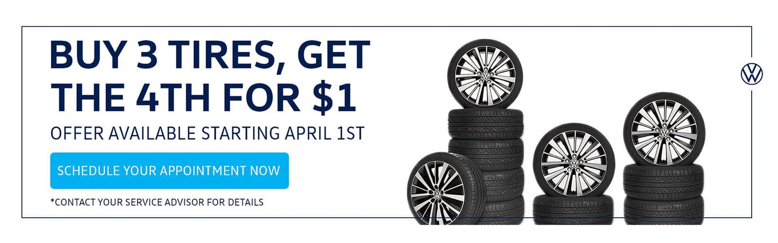 Volkswagen Buy 3 Tires Special