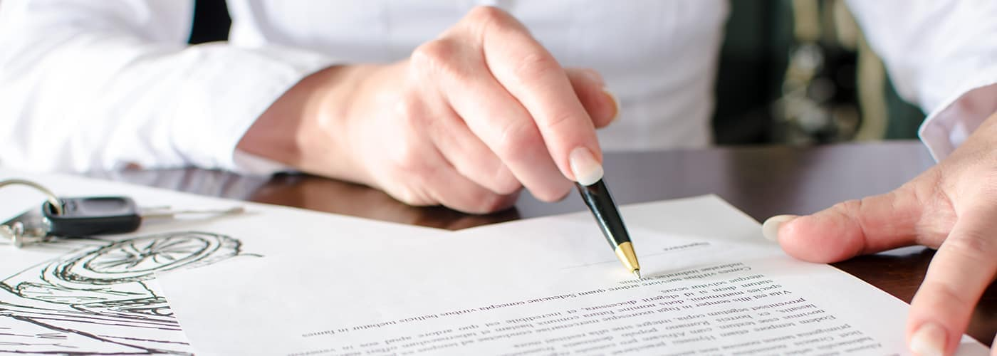 car lease paper work