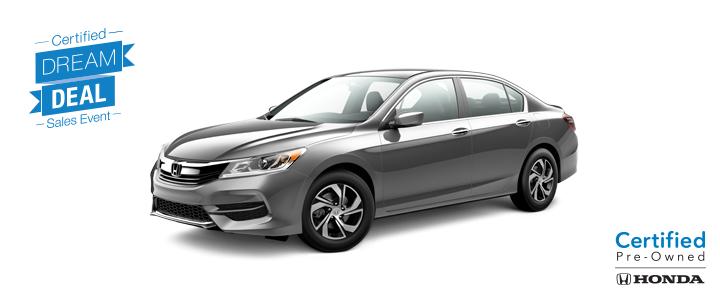 Dream Deal - Honda Certified Accord