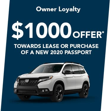 2020 Passport $1000 Offer
