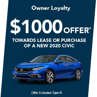 2020 Civic $1000 Offer