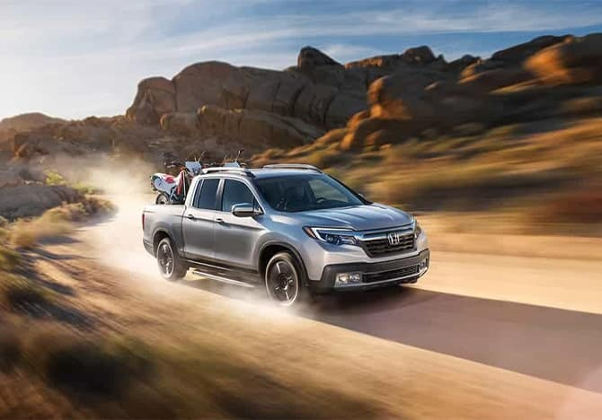 2020 Honda Ridgeline action shot