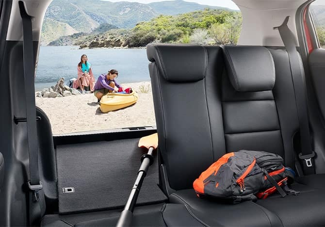 Honda HR-V backseat folded down
