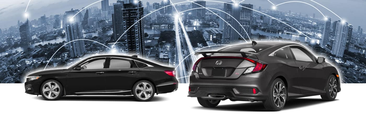 Used Honda Cars with City Background