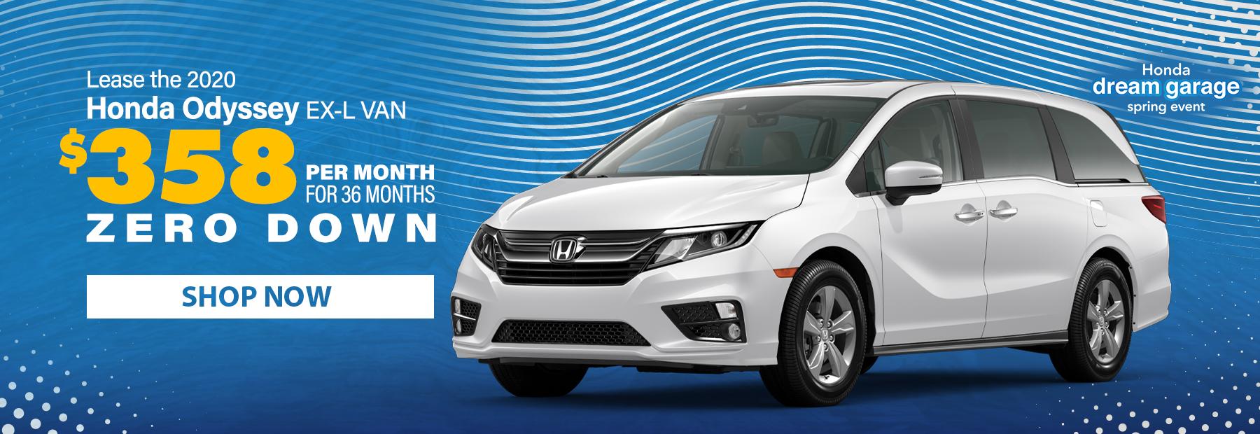 New 2020 Honda Odyssey Minivan Lease Deals in Cincinnati, OH