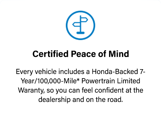 Honda Certified Unmatched Transparency