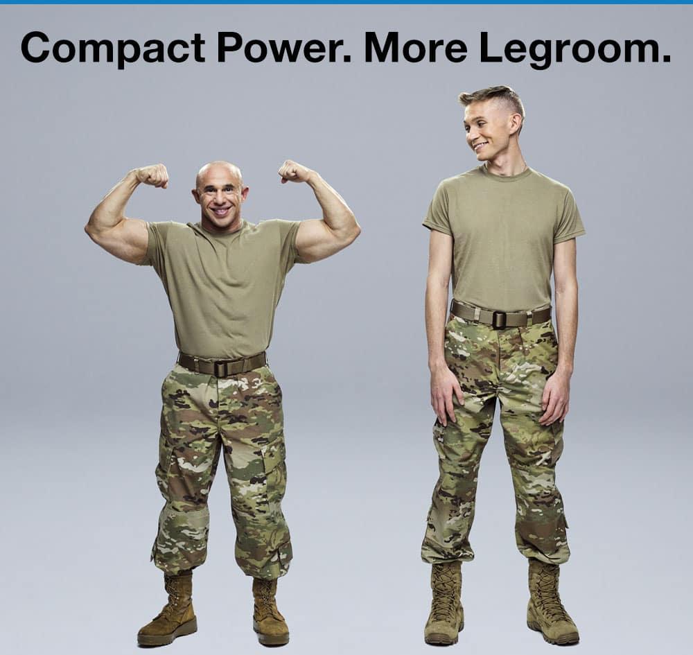 Compact Power. More Legroom.