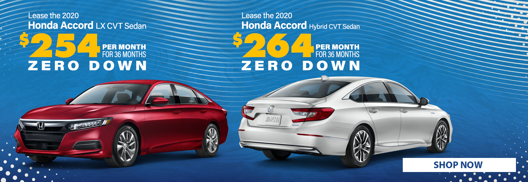 Lease a 2020 Honda Accord LX CVT Sedan &or 2020 Honda Accord Hybrid CVT Sedan