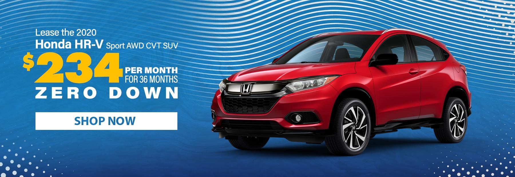 Lease a 2020 Honda HR-V Sport AWD CVT SUV